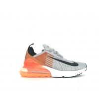 Кроссовки Nike Air Max 270 серые с оранжевым