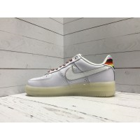 Кроссовки Nike Air Force 1 радуга белые