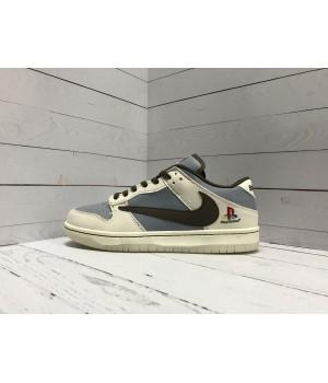 Кроссовки Nike Air Force 1 серо-голубые
