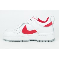 Кроссовки Nike Dunk Low Disrupt белые с красным
