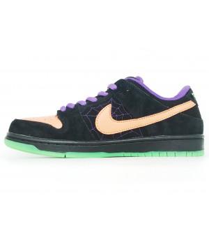 Кроссовки Nike Air Force 1 SB Dunk черные с оранжевым