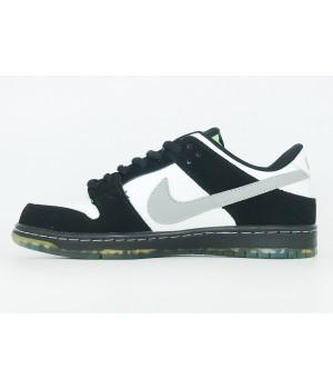 Кроссовки Nike Air Force 1 SB Dunk Low Jeff Staple черно-белые