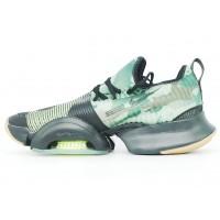 Кроссовки Nike Air Zoom черные с зеленым