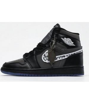 Кроссовки Nike Dior Air Jordan черные
