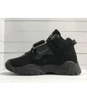 Кроссовки Nike Air Jordan черные замшевые