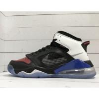 Кроссовки Nike Air Jordan черно-бело-синие с красным