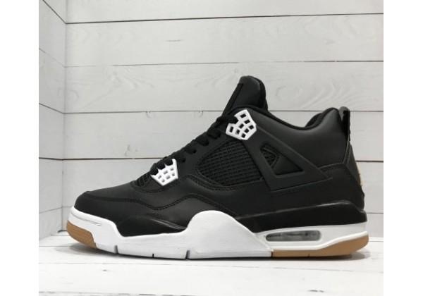 Кроссовки Nike Air Jordan кожаные черные с белым