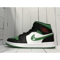 Кроссовки Nike Air Jordan зелено-черно-белые