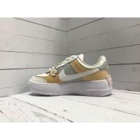 Кроссовки Nike Air Force с ромашкой белые