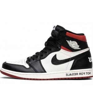 Кроссовки Nike Air Jordan черно-бело-красные