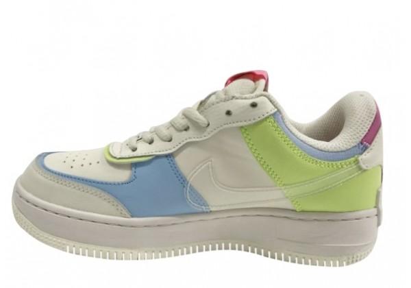 Кроссовки Nike Air Force бежевые трехцветные