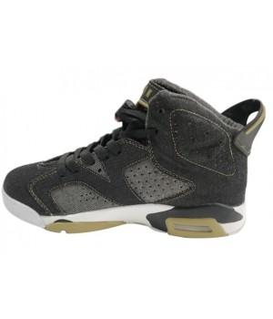 Кроссовки Nike Air Jordan черно-серые с желтым
