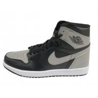 Кроссовки Nike Air Jordan кожаные черно-серые