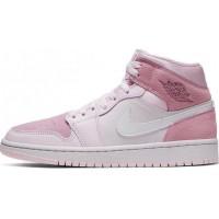 Кроссовки Nike Dior Air Jordan retro розовые