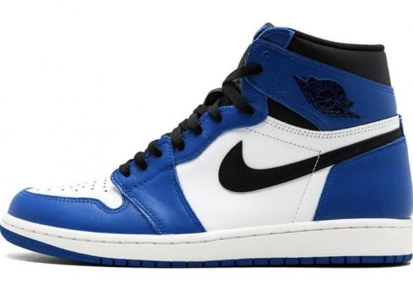Кроссовки Nike Air Jordan бело-синие с черным