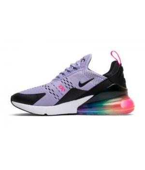 Nike Air Max 270 фиолетовые с цветной подошвой