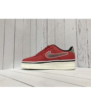 Кроссовки Nike Air Force на высокой подошве красные