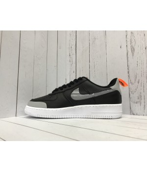 Кроссовки Nike Air Force с логотипом черные
