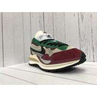 Кроссовки Nike Tavas бежевые с бордовым