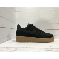 Кроссовки Nike Air Force замшевые черные