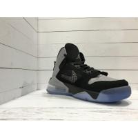 Кроссовки Nike Air Jordan высокие черно-серые