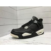 Кроссовки Nike Air Jordan на высокой подошве черно-белые