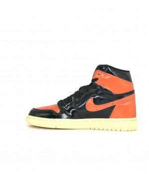 Кроссовки Nike Air Jordan оранжево-черные