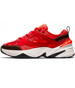 Кроссовки Nike M2k Tekno красные с черным