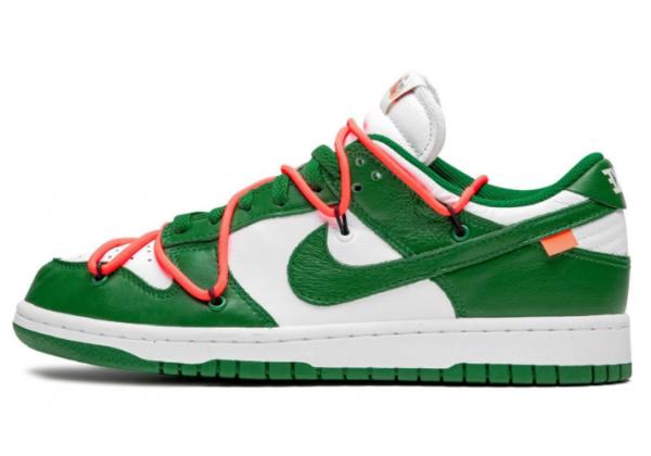 Кроссовки Nike X Off-White Dunk Low зеленые