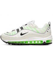 Кроссовки Nike Air Max 98 белые с зеленым