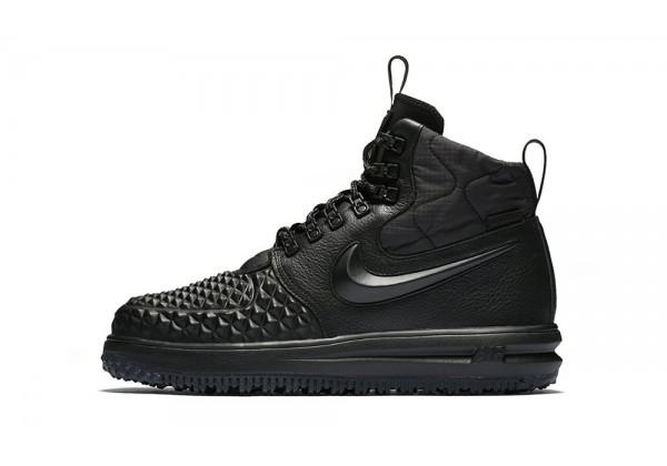 Nike кроссовки Lunar Force 1 высокие моно черные