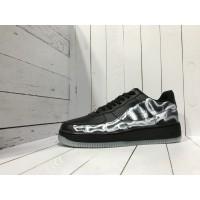 Кроссовки Nike Air Force черные с белым принтом