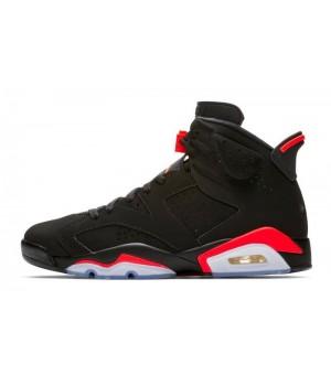 Nike Air Jordan Retro 6 (Черные с красным)