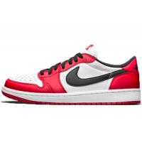 Nike Air Jordan Retro 1 Low (Белые с красным)