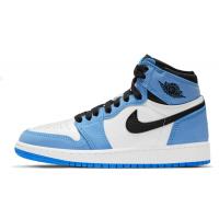 Nike Air Jordan Retro 1 Mid (Белые с голубым)