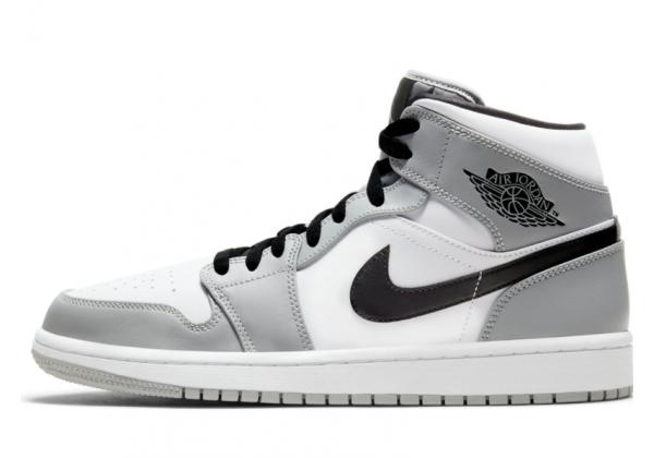 Nike Air Jordan Retro 1 Mid (Белые с серым)