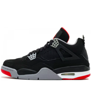 Кроссовки Nike Air Jordan 5 черно-серые с красным