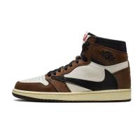 Nike Air Jordan Retro 1 High Travis Scott X OG (Хаки с белым)