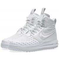 Кроссовки Nike Lunar Force 1 высокие моно белые