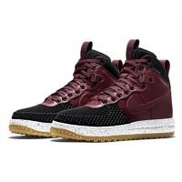 Кроссовки Nike Lunar Force 1 высокие бордовые с черным
