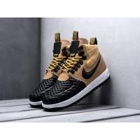 Кроссовки Nike Lunar Force 1 высокие черно-бежевые