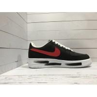 Кроссовки Nike Air Force черно-бело-красные