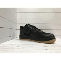 Кроссовки Nike Air Force черные моно