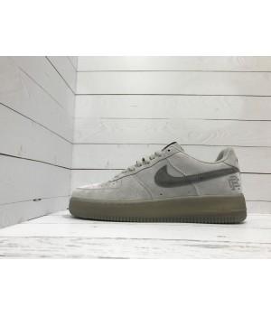 Кроссовки Nike Air Force замшевые серые