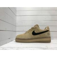 Кроссовки Nike Air Force бежевые