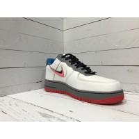 Кроссовки Nike Air Force бело-сине-красные