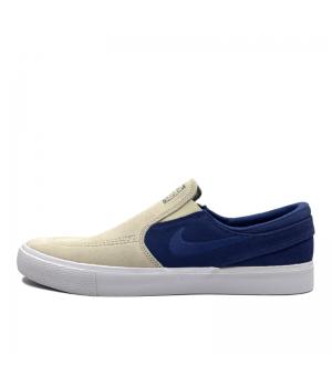 Слипоны Nike SB Zoom Janoski RM Premium синие с бежевым