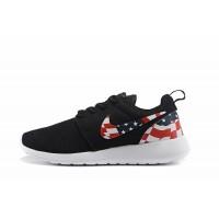 Кроссовки Nike Roshe Run с принтом черные