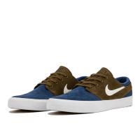 Кеды Nike SB Zoom Janoski коричневые с синим