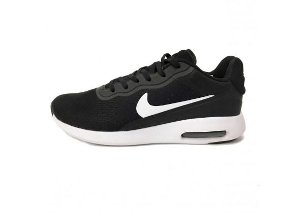 Кроссовки Nike Air Max Tavas замшевые черные с белым